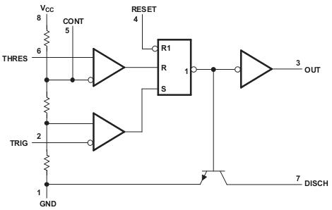 Диаграмма таймера 555