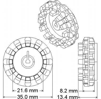 Чертёж колеса 32×7