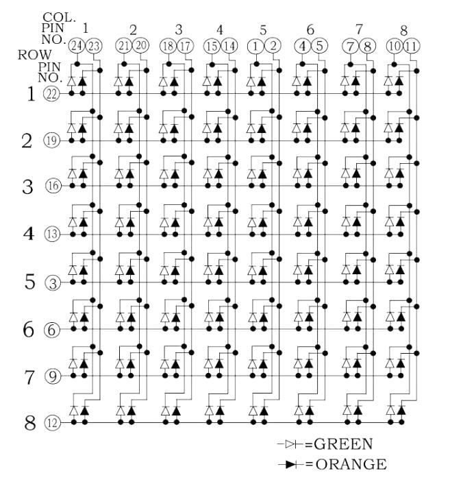 Распиновка светодиодной матрицы